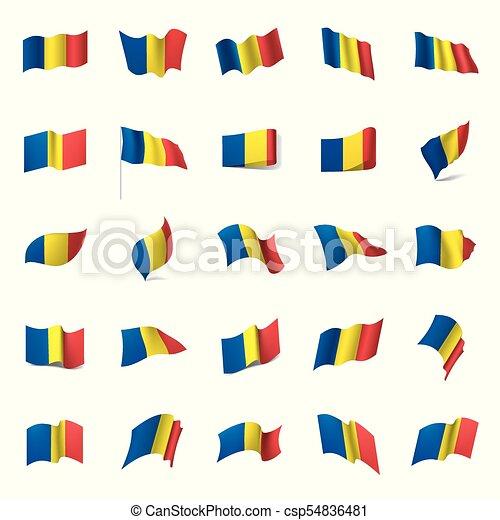Romania flag, vector illustration - csp54836481