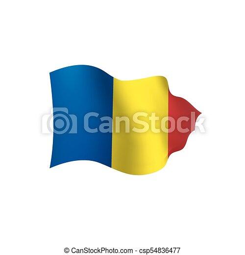 Romania flag, vector illustration - csp54836477