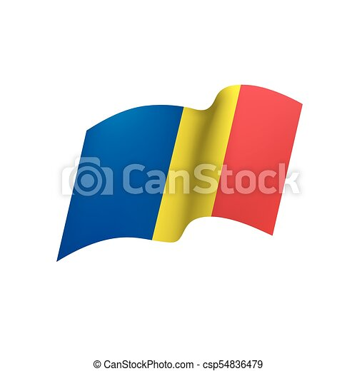 Romania flag, vector illustration - csp54836479