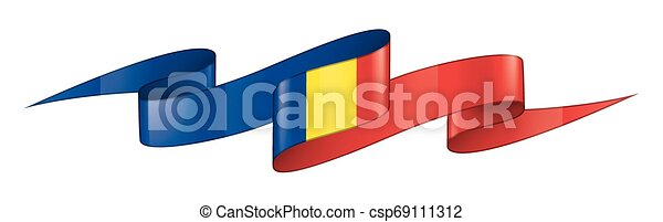 Romania flag, vector illustration on a white background - csp69111312