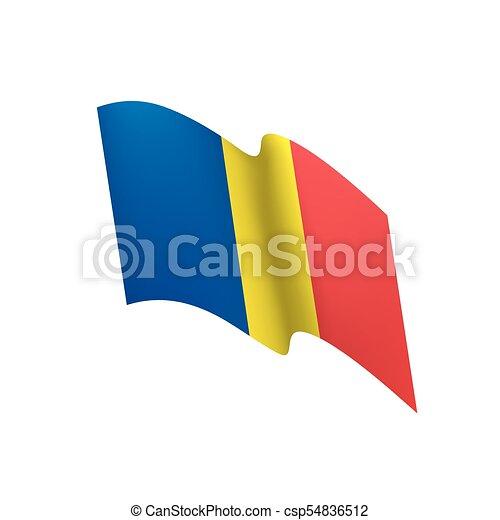 Romania flag, vector illustration - csp54836512