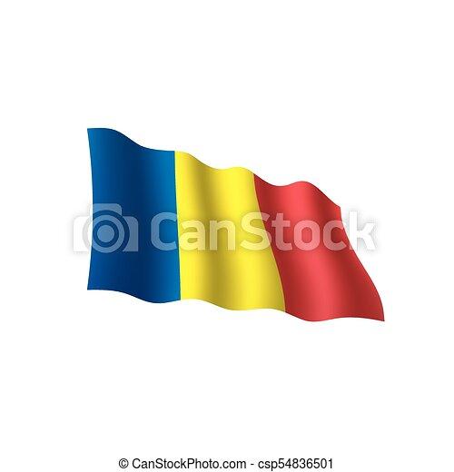 Romania flag, vector illustration - csp54836501