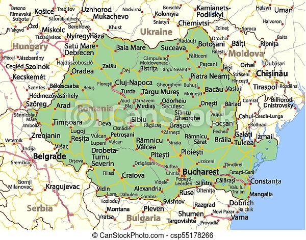 Romania world countries vectormap a map of romania shows clip romania world countries vectormap a gumiabroncs Image collections