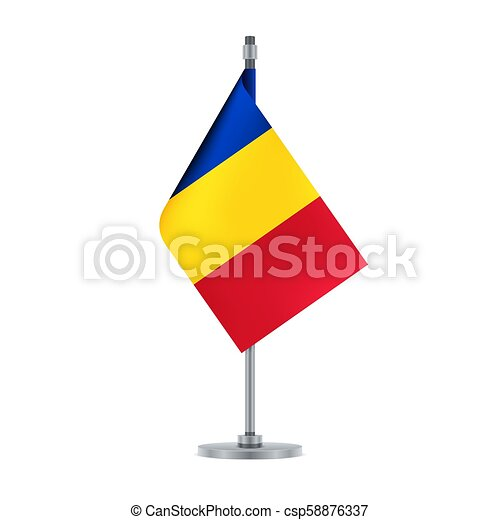 Romanian flag, flat layout, vector illustration - csp58876337