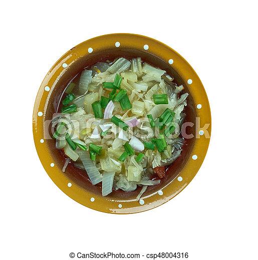 Romanian onion soup - csp48004316
