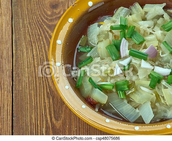 Romanian onion soup - csp48075686