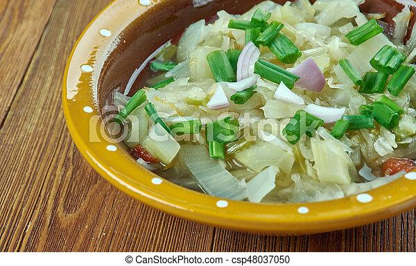 Romanian onion soup - csp48037050