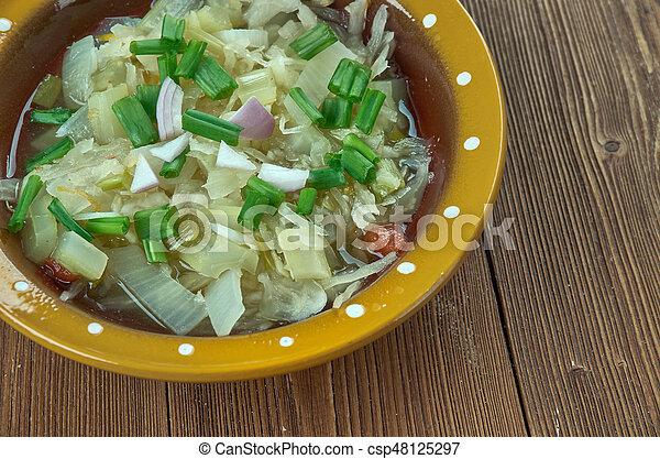 Romanian onion soup - csp48125297