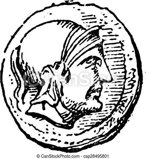 Roman, grabado antiguo. - csp28495801