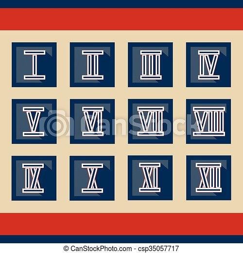 romans numerals - csp35057717
