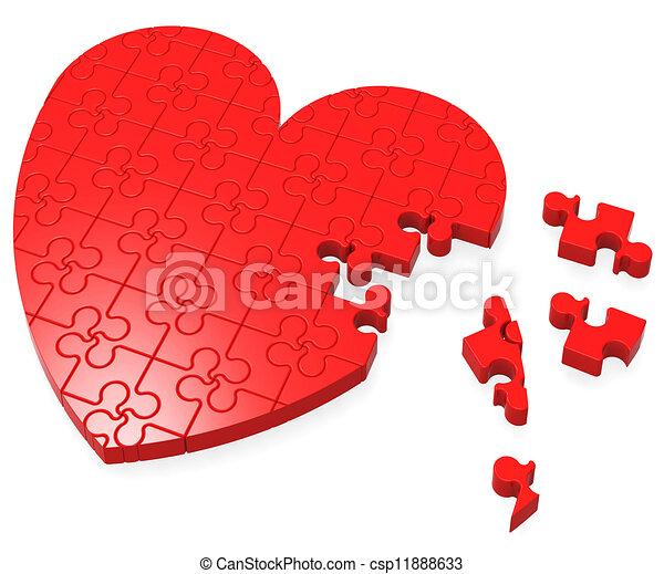 romans, serce, zagadka, niedokończony, widać - csp11888633