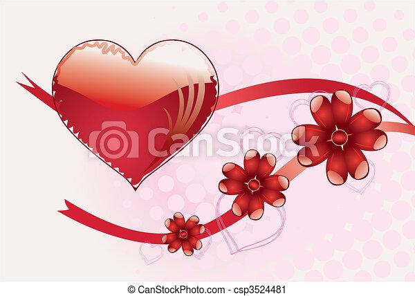 romantic background - csp3524481