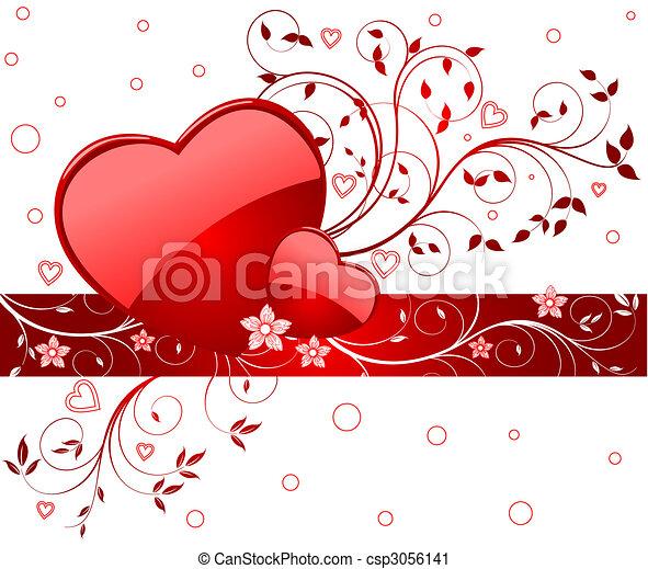 Romantic background vector illustration - csp3056141