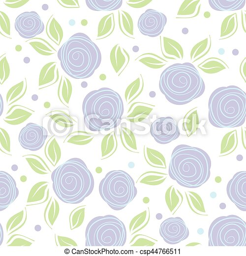 Romantic background with cute roses on white background - csp44766511