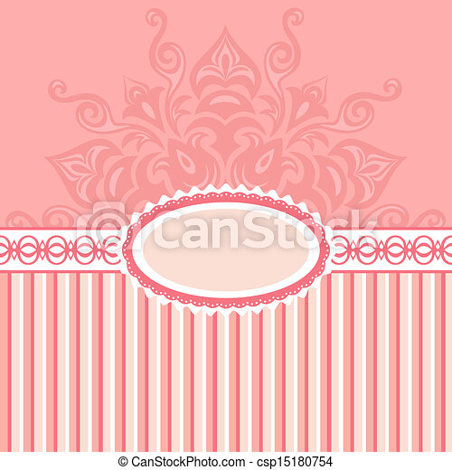 Romantic background with pattern - csp15180754
