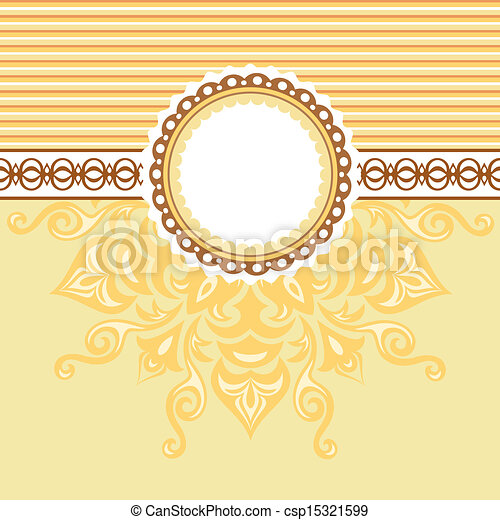 Romantic background with pattern - csp15321599