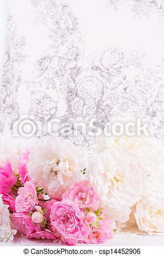 romantic background with rose - csp14452906