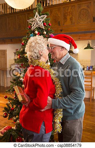 Romantic christmas couple