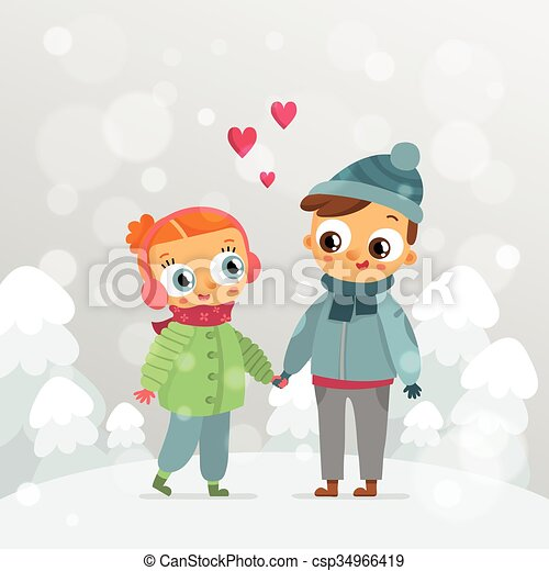 romantic couple st valentines day vector greeting card design template with cute lovers holding