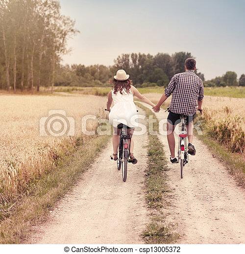 Romantic cycling - csp13005372