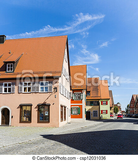 romantic Dinkelsbuehl, city of late middleages - csp12031036