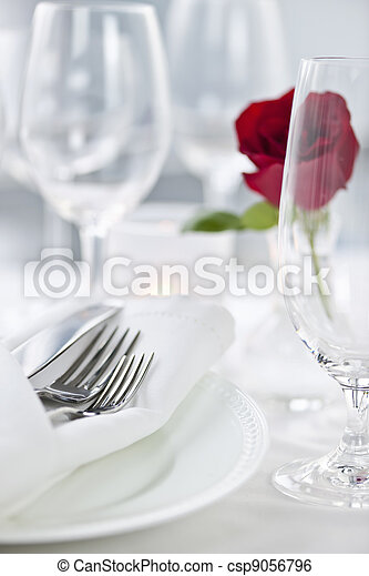 Romantic dinner setting - csp9056796