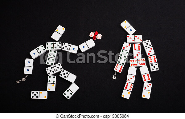Romantic domino - csp13005084