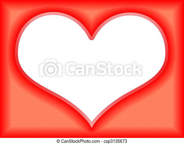 Romantic frame. Tender romantic red soft love flame.