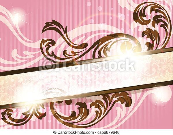 Romantic French retro banner - csp6679648
