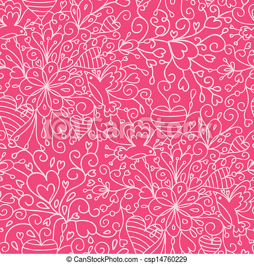 Romantic garden seamless pattern background - csp14760229