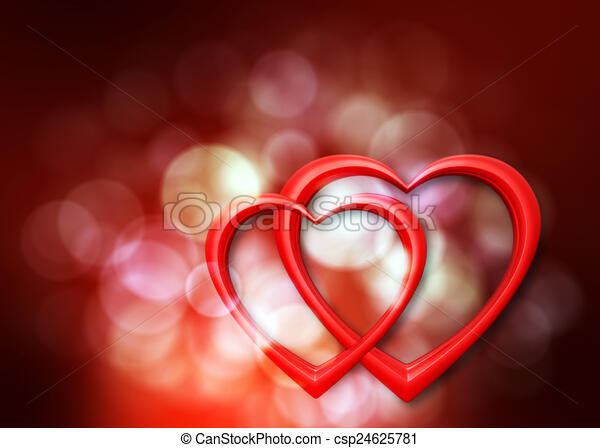 Clip Art Line Of Hearts : Romantic hearts background with defocused lights and two stock