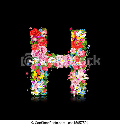 Romantic letter of beautiful flowers h romantic letter of beautiful flowers h csp15057524 altavistaventures Image collections