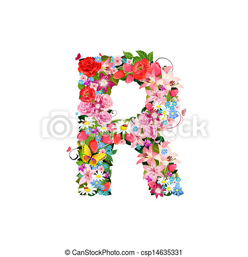 Romantic letter of beautiful flowers r romantic letter of beautiful flowers r csp14635331 altavistaventures Choice Image
