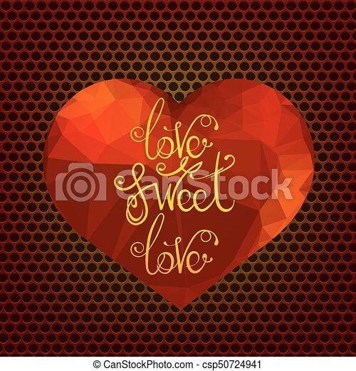 Romantic Love Quote Design   Csp50724941