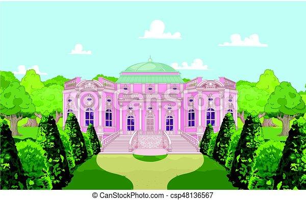 Romantic Palace for a Princess - csp48136567