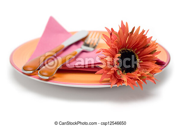 Romantic Place Setting - csp12546650