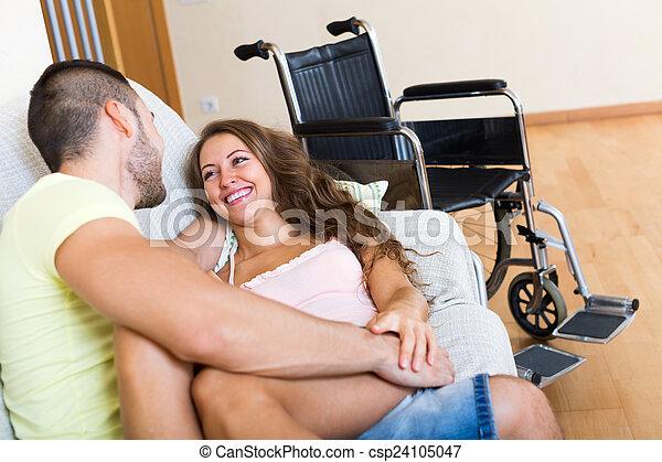 Romantic relationships between young people  - csp24105047