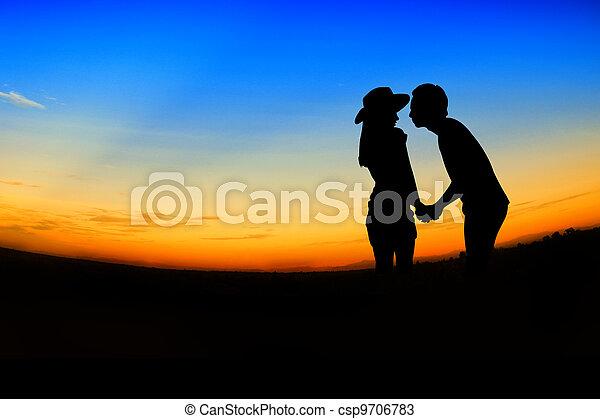 romantic Scene of love, valentine's day - csp9706783