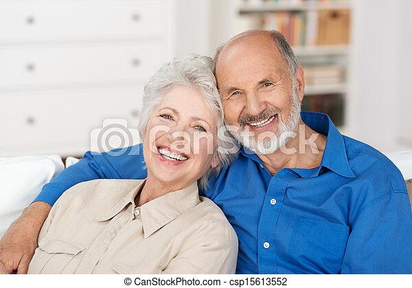 Romantic senior couple - csp15613552