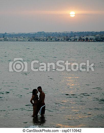 Romantic sunset2 - csp0110942