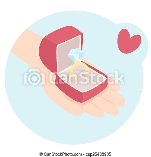 Romantic Valentines gift - csp25438905