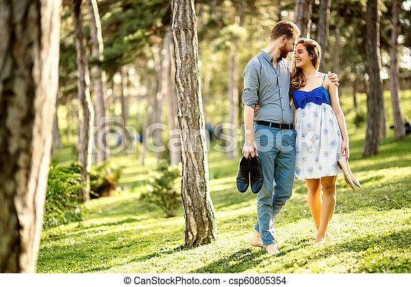 Romantic walk in nature - csp60805354