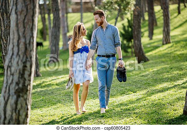 Romantic walk in nature - csp60805423