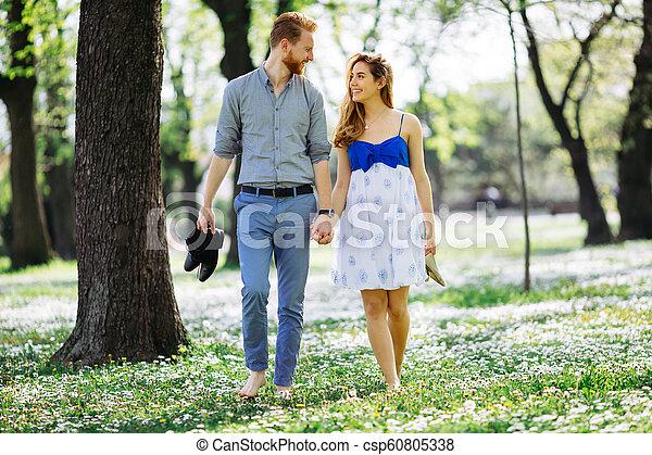 Romantic walk in nature - csp60805338