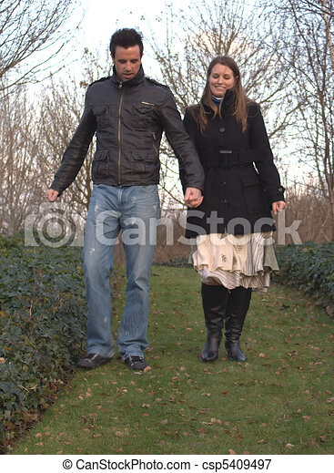romantic walk - csp5409497
