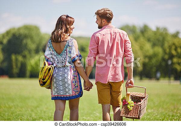 Romantic walk - csp39426606