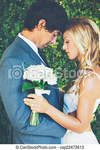 Romantic Wedding Couple - csp22472613