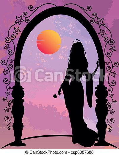 romantique, princesse - csp6087688