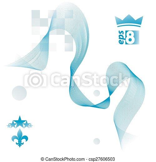 Romantische , königlich, abstrakt, linien, design, gewebe,... Vektor ...