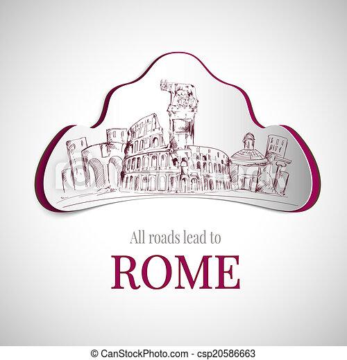Rome city emblem - csp20586663